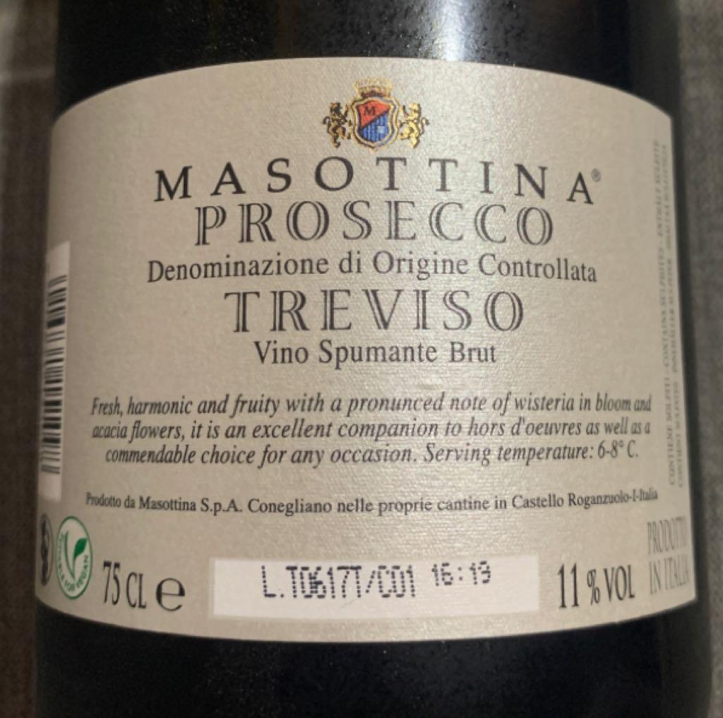 Prosecco Masottina Wine - White sparkling back image (back cover, second image)