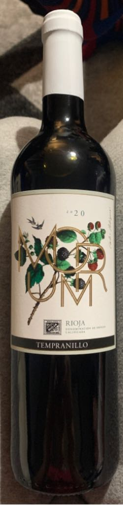 Morum Rioja Wine - Red front image (front cover)