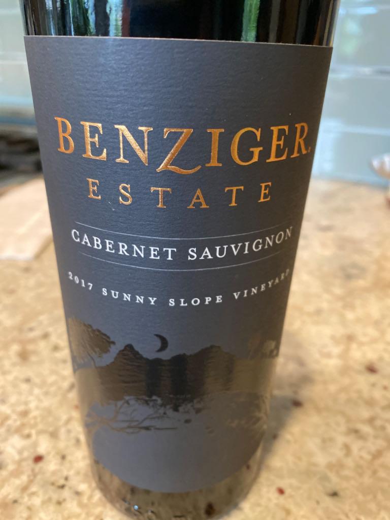 Cabernet Sauvignon Wine - 100% Cabernet Sauvignon (Benziger) front image (front cover)