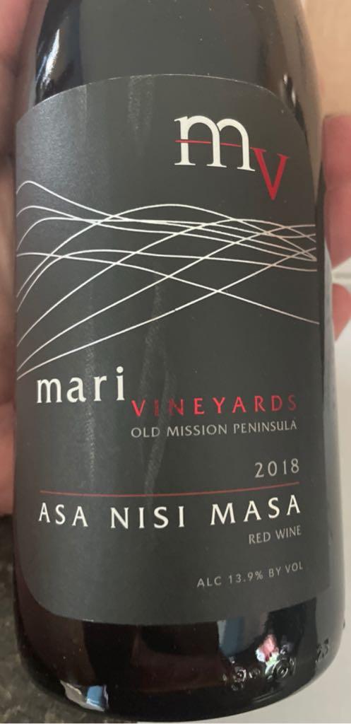 Asa Nisi Masa Wine - Melbec Nebbiolo Strah (Mari Vineyard) front image (front cover)