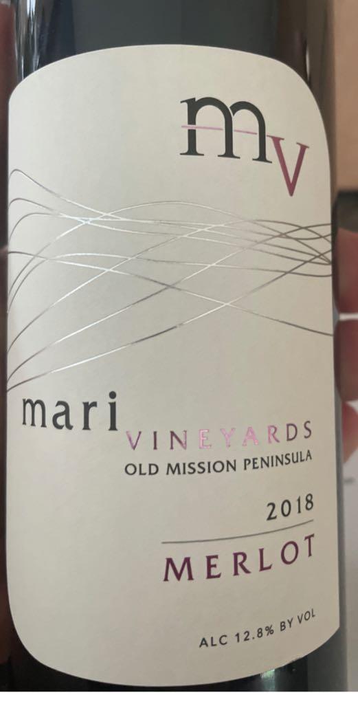 Merlot Wine - 95 Merlot 5 Refosco (Mari Vineyard) front image (front cover)